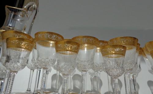 Crystal Saint Louis Thistle Gold model Set  - Art nouveau