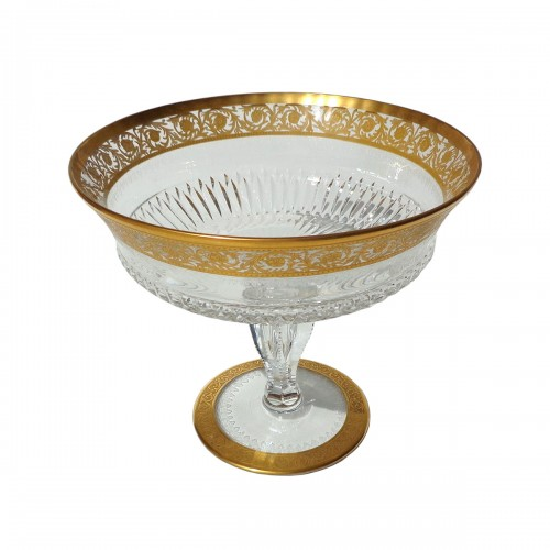 Footed Bowl in crystal St Louis Thistle gold model