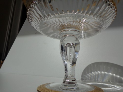 Footed Bowl in crystal St Louis Thistle gold model -