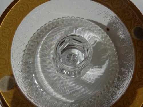 Footed Bowl in crystal St Louis Thistle gold model - Art nouveau