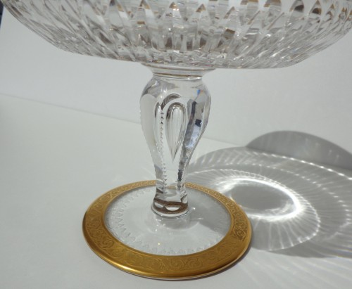 Antiquités - Footed Bowl in crystal St Louis Thistle gold model