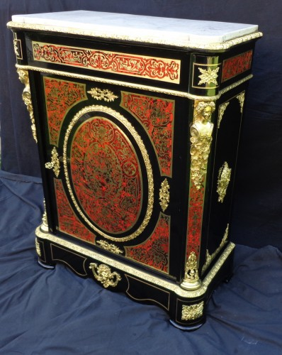 Cabinet in Boulle marquetry 19th - Furniture Style Napoléon III