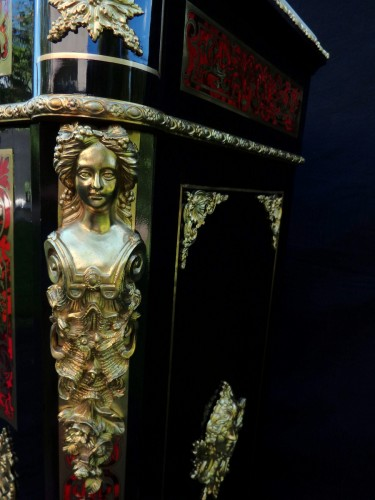Antiquités - Cabinet in Boulle marquetry 19th