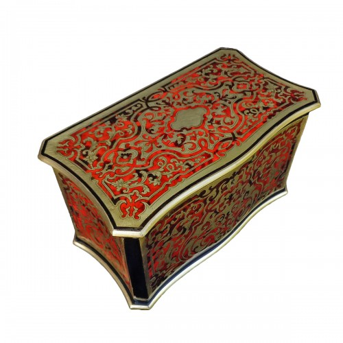 Tea box in Boulle marquetry 19th