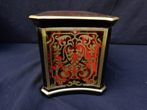 Tea box in Boulle marquetry 19th - Decorative Objects Style Napoléon III