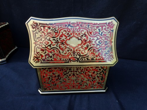 Tea box in Boulle marquetry 19th -