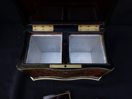 19th century -  Tea box in Boulle marquetry 19th