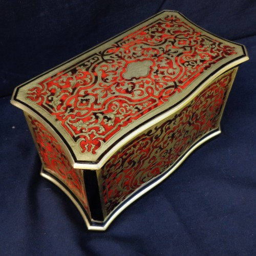 Antiquités -  Tea box in Boulle marquetry 19th