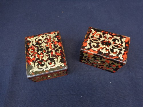 Light and Host Boxes Boulle style 19th century -