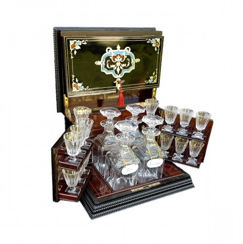 French Boulle style Cave à liqueur of the late 19th century