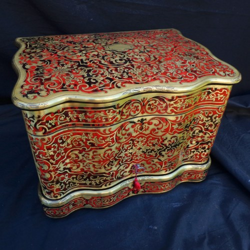 Antiquités - Tantalus Box in Boulle style marquetry 19th