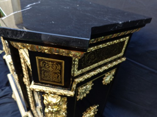 French Boulle style credenza Stamped L. Winterniiz - Napoléon III