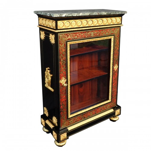 Display Cabinet in Boulle marquetry 19th opening on 1 door