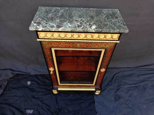 19th century - Display Cabinet in Boulle marquetry 19th opening on 1 door