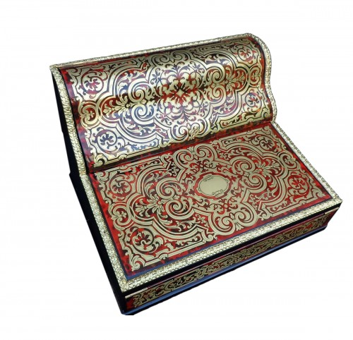 Boulle style writting desk set