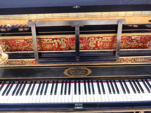 Furniture  - Piano Stamped JUVENOIS in marquetry Boulle 19th Napoléon III period