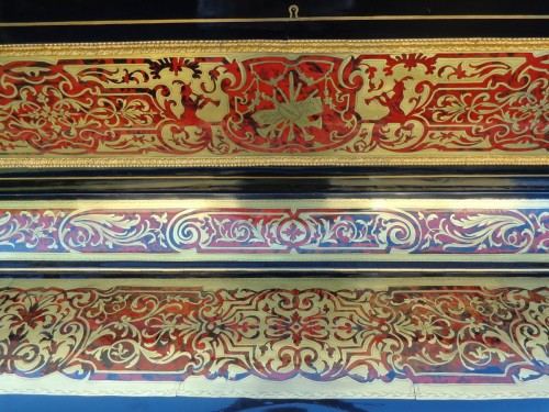 19th century - Piano Stamped JUVENOIS in marquetry Boulle 19th Napoléon III period