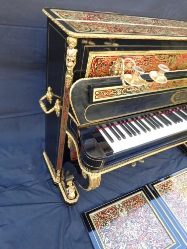 Piano Stamped JUVENOIS in marquetry Boulle 19th Napoléon III period - Napoléon III