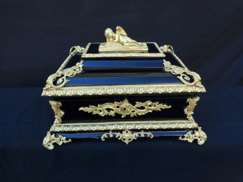 Big Box Black and Bronze and black in Boulle 19th Napoleon III period - Decorative Objects Style Napoléon III