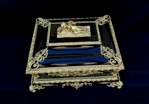Decorative Objects  - Big Box Black and Bronze and black in Boulle 19th Napoleon III period