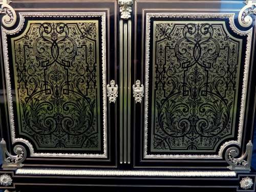 Antiquités - Furniture L XIV with 2 doors in Boulle marquetry 19th  Napoleon III  period