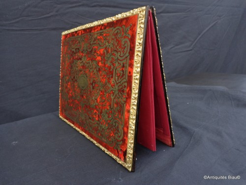19th century - Document Holder in Boulle marquetry Napoléon III period 19th