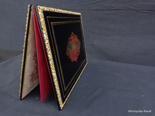 Document Holder in Boulle marquetry Napoléon III period 19th - Napoléon III