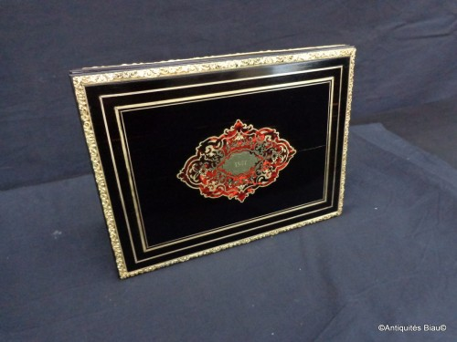 Napoléon III - Document Holder in Boulle marquetry Napoléon III period 19th