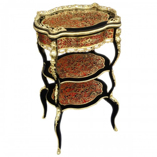 Little dressing Table in Boulle marquetry 19th Napoleon III period