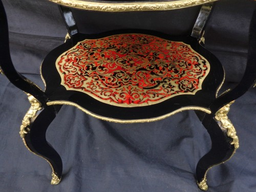 Furniture  - Little dressing Table in Boulle marquetry 19th Napoleon III period