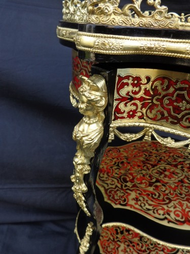 Little dressing Table in Boulle marquetry 19th Napoleon III period -