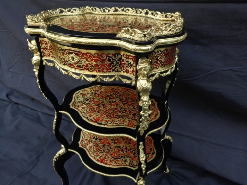 19th century - Little dressing Table in Boulle marquetry 19th Napoleon III period
