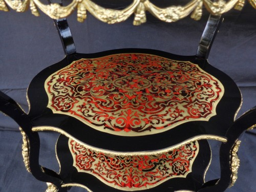 Little dressing Table in Boulle marquetry 19th Napoleon III period - Napoléon III