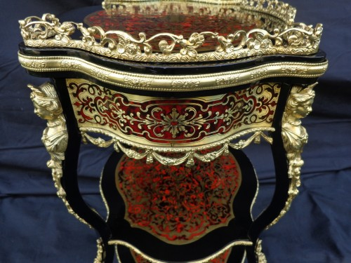 Antiquités - Little dressing Table in Boulle marquetry 19th Napoleon III period