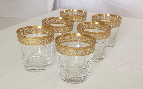 Whisky set in crystal St-Louis - Thistle gold  - Glass & Crystal Style Art nouveau