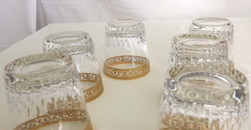 Whisky set in crystal St-Louis - Thistle gold  -