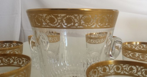 Whisky set in crystal St-Louis - Thistle gold - Art nouveau