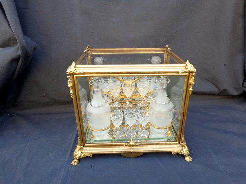 Decorative Objects  - A late 19th century Glass Tantalus Box in Bronze
