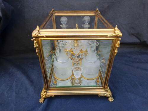 19th century - A late 19th century Glass Tantalus Box in Bronze