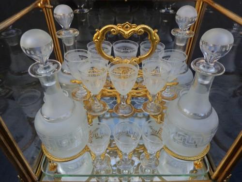 Napoléon III - A late 19th century Glass Tantalus Box in Bronze