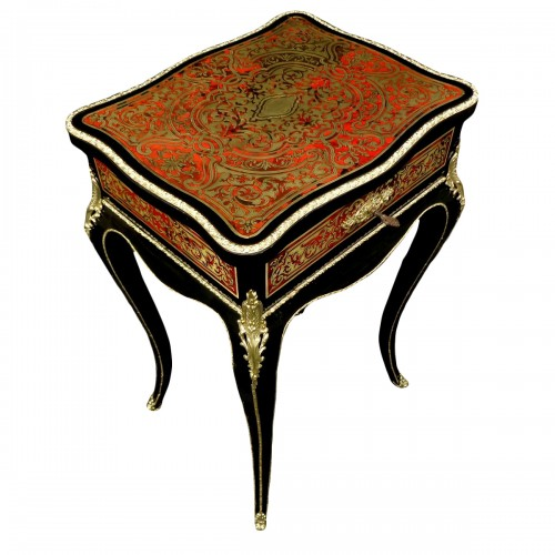 Little Table in marquetry Boulle 19th Napoléon III period