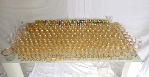 Amazing set of crystal Saint Louis Model Thistle gold -
