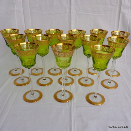 14 Roemers Chartreuse Saint St Louis Thistle Or Cristal