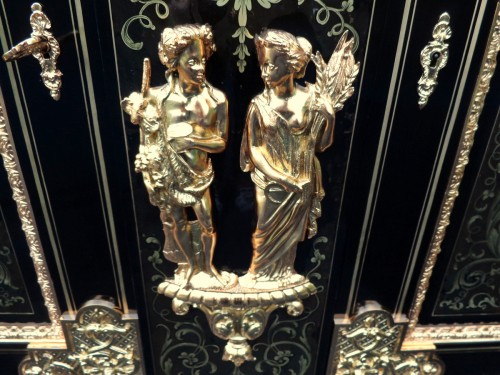 2 doors in Boulle style marquetry -