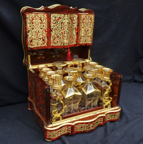 Decorative Objects  - Tantalus Box in Boulle marquetry Napoleon III period 19th Stamped Th Année