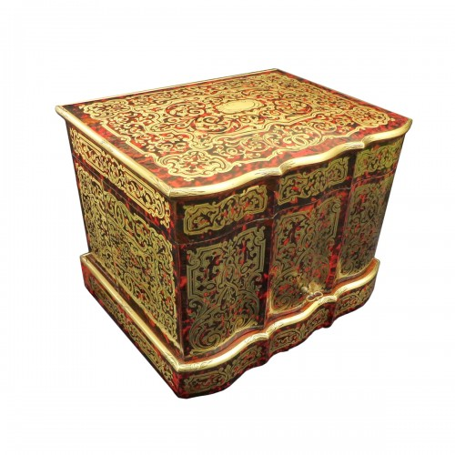 Tantalus Box in Boulle marquetry Napoleon III period 19th