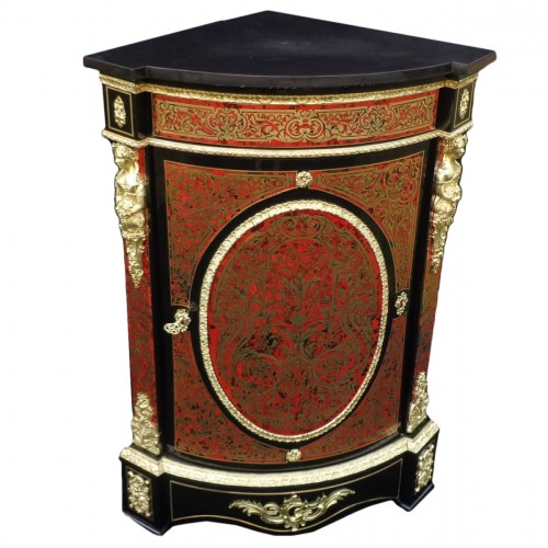 Furniture of corner Boulle Marquetry 19th Napoleon III period