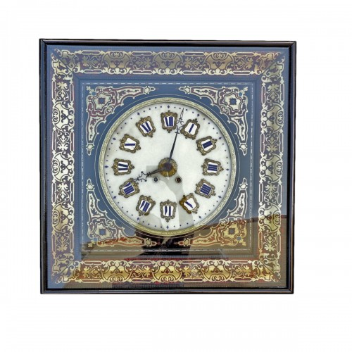 Clock in Boulle marquetry 19th Napoléon III period