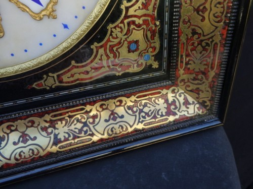 Clocks  - Clock in Boulle marquetry 19th Napoléon III period