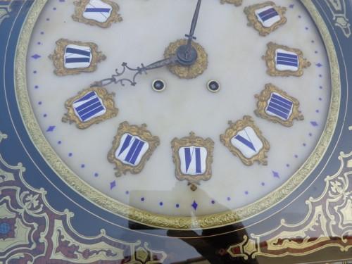 Napoléon III - Clock in Boulle marquetry 19th Napoléon III period